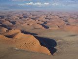 Aerial View of Sand Dunes, Sossusvlei, Namib Desert, Namib Naukluft Park, Namibia, Africa Photographic Print by Milse Thorsten