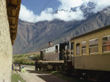 Train at a Stop in the Urubamba Valley in Peru, South America Photographic Print by Sassoon Sybil