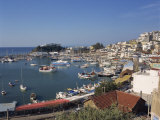 Boats in the Yacht Harbour and the Town of Piraeus in the Background, Near Athens, Greece, Europe Photographic Print by Rainford Roy