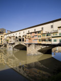 Reflection in the Arno River of the Ponte Vecchio, Florence, Tuscany, Italy, Europe Photographic Print by Olivieri Oliviero