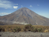 Solidified Lava Flows, El Misti Volcano, 5821M, Arequipa, Peru, South America Photographic Print by Rennie Christopher