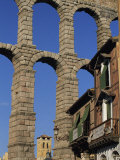 Section of the Roman Aqueduct at Segovia, UNESCO World Heritage Site, Castilla Y Leon, Spain Photographic Print by Tomlinson Ruth