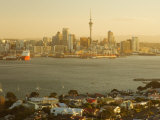 Devonport, Auckland Skyline and Waitemata Harbour, Auckland, North Island, New Zealand, Pacific Photographic Print by Schlenker Jochen