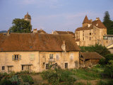 Old Stone Houses in Arbois, Franche-Comte, France Photographic Print by Short Michael