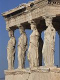 Caryatid Portico, Erechthion, Acropolis, UNESCO World Heritage Site, Athens, Greece, Europe Photographic Print by Thouvenin Guy