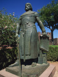 Statue of Sancho I at the Castel Dos Mouros at Silves in the Algarve, Portugal, Europe Photographic Print by Teegan Tom