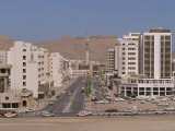 Street with Modern Buildings and Telecommunications Tower in Ruwi, Oman, Middle East Photographic Print by Ryan Peter