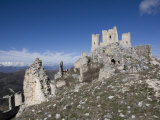 Castle of Rocca Calscio, Abruzzi, Italy, Europe Photographic Print by Olivieri Oliviero