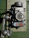 Telephone, Barentsburg, Spitsbergen, Svalbard, Norway, Scandinavia, Europe Photographic Print by Milse Thorsten