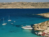 Aerial View of Blue Lagoon, Comino Island, Malta, Mediterranean, Europe Photographic Print by Tondini Nico