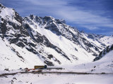 Buildings Beside the Road Between Santiago and Mendoza in the Andes Mountains, Chile Photographic Print by Simanor Eitan