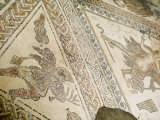 Mosaic, Chedworth Roman Villa, Gloucestershire, England, United Kingdom, Europe Photographic Print by Richardson Rolf
