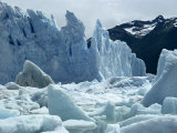 Loose Ice from Icebergs of the Perito Moreno Glacier in Argentina, South America Photographic Print by Rawlings Walter