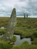 Stone Row at Stall Moor, Dartmoor National Park, Devon, England, United Kingdom, Europe Photographic Print by Woolfitt Adam