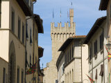 Via Dell&#39;Orto and Town Hall Tower, Arezzo, Tuscany, Italy, Europe Photographic Print by Tondini Nico