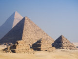 Pyramids of Giza, Giza, UNESCO World Heritage Site, Near Cairo, Egypt, North Africa, Africa Photographic Print by Schlenker Jochen