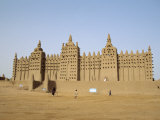 Great Mosque, the Largest Dried Earth Building in the World, Djenne, Mali Fotografisk trykk av Pate Jenny