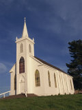Old Traditional White Painted Christian Church in Bodega Bay, Northern California, USA Photographic Print by Alison Wright