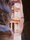 Treasury Seen from the Siq Gorge, Petra, UNESCO World Heritage Site, Jordan, Middle East Photographic Print by Schlenker Jochen