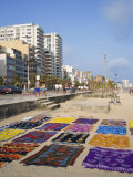 Bright Fabrics on Ipanema Beach in Rio De Janeiro, Brazil, South America Photographic Print by Renner Geoff