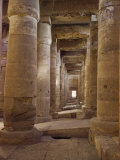 Interior of the Temple of Sythos I, 18th Dynasty, Abydos, Egypt, North Africa, Africa Photographic Print by Rawlings Walter