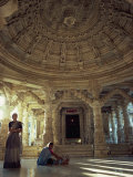 Interior of Vimal Vasahi Temple, Built in 1031, Mount Abu, Rajasthan State, India Photographic Print by Wilson John Henry Claude