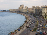 Waterfront and Sharia 26th July, Alexandria, Egypt, North Africa, Africa Photographic Print by Schlenker Jochen