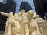 Illuminated Crowd Sculpture in Downtown Montreal, Quebec, Canada, North America Photographic Print by DeFreitas Michael