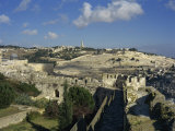 View of Mount of Olives, Jerusalem, Israel, Middle East Photographic Print by Simanor Eitan