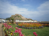 Mount Orgueil Castle, Gorey, St. Martin, Jersey, Channel Islands, United Kingdom, Europe Photographic Print by Renner Geoff