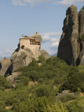 St. Nicholas Anapafsa Monastery, Meteora, Thessaly, Greece Photographic Print by Richardson Rolf