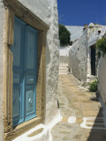 Narrow Street in Hora, Patmos, Dodecanese Islands, Greek Islands, Greece, Europe Photographic Print by Simanor Eitan