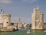 Towers of La Chaine and St. Nicholas at the Entrance to La Rochelle, Charente-Maritime, France Photographic Print by Stuart Hazel