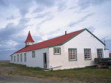 Community Centre in the Settlement of Goose Green, on the Falkland Islands, South America Photographic Print by Renner Geoff