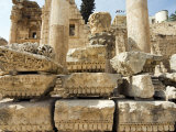 Capitals and Ruins in North Colonnaded Street, Jerash, a Roman Decapolis City, Jordan, Middle East Photographic Print by Tondini Nico