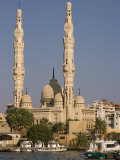 Port Fuad Mosque and the Suez Canal, Port Said, Egypt, North Africa, Africa Photographic Print by Richardson Rolf