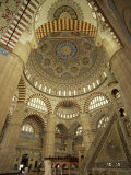 Interior of the Selimiye Mosque at Edirne, Anatolia, Turkey Minor, Eurasia Photographic Print by Woolfitt Adam