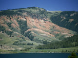 Red Shale Exposed on Hillside, Gros Ventre Valley, Wyoming, United States of America, North America Photographic Print by Waltham Tony