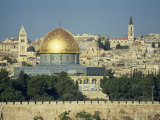 Dome of the Rock and Temple Mount from Mount of Olives, Jerusalem, Israel, Middle East Photographic Print by Simanor Eitan