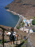 Jacobs Ladder, Towards the Harbour at Jamestown, St. Helena, Atlantic Ocean, Mid Atlantic Photographic Print by Renner Geoff