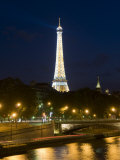 Eiffel Tower at Dusk, Paris, France, Europe Photographic Print by Pitamitz Sergio