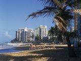 Condado Beach, San Juan, Puerto Rico, Central America Photographic Print by Richardson Rolf