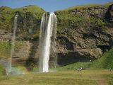 Seljalandsfoss Waterfall, Iceland, Polar Regions Photographic Print by Waltham Tony
