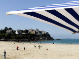 Plage De L'Ecluse and Typical Villas, Dinard, Brittany, France, Europe Photographic Print by Thouvenin Guy
