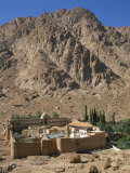 St. Catherines Monastery Below a Rocky Hill, UNESCO World Heritage Site, Sinai, Egypt Photographic Print by Richardson Rolf