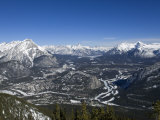 Banff and the Bow Valley Surrounded by the Rocky Mountains, Banff National Park, Alberta, Canada Photographic Print by DeFreitas Michael