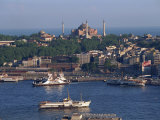 Istanbul Skyline Including the Aghia Sophia Basilica, Istanbul, Turkey, Europe Photographic Print by Woolfitt Adam