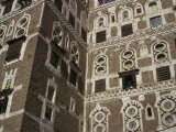 Architectural Detail, Old City, Sana'A, UNESCO World Heritage Site, Yemen, Middle East Photographic Print by Traverso Doug