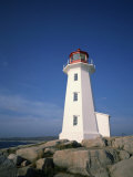 Lighthouse at Peggys Cove Near Halifax in Nova Scotia, Canada, North America Photographic Print by Renner Geoff