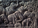 Detail of South Gate of the Great Stupa, Sanchi, Near Bhopal, Madhya Pradesh State, India Photographic Print by Woolfitt Adam